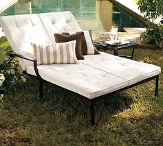 Chaise Lounge Double Single And Double Chaise Lounge Chair Pottery Barn