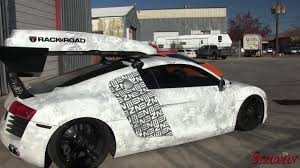 audi r8 tanner braungardt 131 audi r8 snow machine by envision wraps youtube
