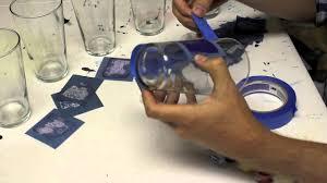 fun u0026 easy to screen print on glass at home youtube
