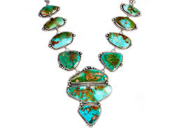 stone turquoise necklace images 11 stone royston turquoise statement necklace by loretta delgarito jpg
