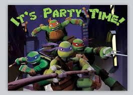 ninja turtles birthday invitations template free invitations ideas