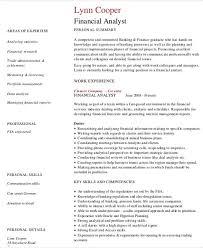 resume of financial analyst 25 finance resumes in pdf free u0026 premium templates