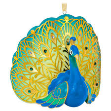 pretty peacock premium porcelain ornament keepsake ornaments