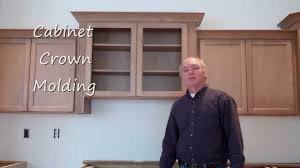 how to add crown molding to kitchen cabinets kitchen cabinet crown molding youtube