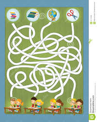 the coloring page with exercise maze the theme