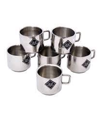 buy coffee mugs online india bm stainless steel coffee mugs set of 6 buy online at best price
