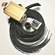 fiber optic light strands waterproof 2mm pmma end emitting fiber optic light strands 30pcs