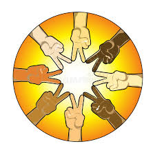 sun made out of the peace sign stock illustration