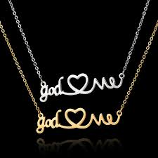 stainless steel choker necklace images New arrival stainless steel quot god love me quot necklace this girl jpg