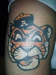 auburn tiger tattoos