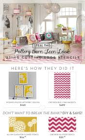 Pottery Barn Teen Rugs Steal These Pottery Barn Teen Looks Using Stencils Stencil Stories