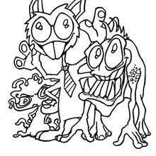 monsters ties coloring pages hellokids