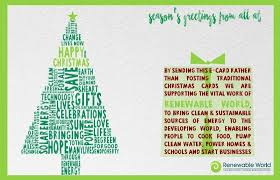 christmas cards renewable world