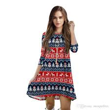 2018 New WomenS One Piece Dress Christmas Fashion Clothes Costume