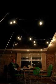 String Patio Lights by Outdoor Lighting How To Hang Patio Lights The Easy Way