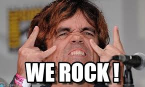 Rock Memes - we rock tyrion meme on memegen