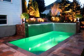 Small Backyard Pool by Best Backyard Pools With Green Floor Lighting Design Popular Home