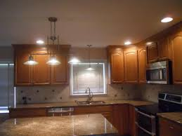 interior led recessed lights with grey granite countertop wooden