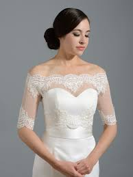 shoulder dot lace bolero wedding jacket