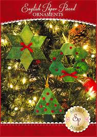 english paper pieced ornaments supply kit fabric not included