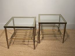 brass tables for sale pair of circa 1960s brass glass side tables occasional brilliant