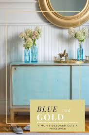 best 25 blue painted furniture ideas only on pinterest chalk a mid century modern credenza gets a makeover categories bedroom midcentury