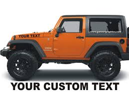 jeep custom jeep hood decals custom made fits wrangler renegade ebay