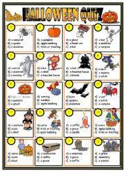 worksheet halloween quiz key included