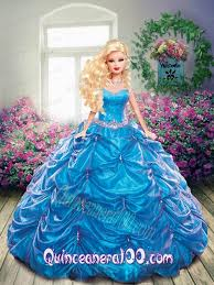 quinceanera dolls beading and ups quinceanera dress for doll in blue