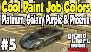gta online cool paint job guide 5 platinum galaxy purple