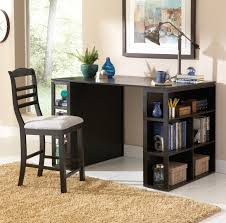 steve silver bradford contemporary writing desk with side shelf