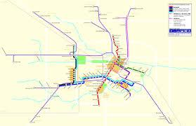 Metrorail Map The Houston Light Rail System