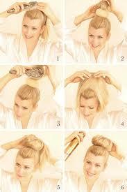 sock hair bun sock bun tutorial for hair high bun updos popular haircuts
