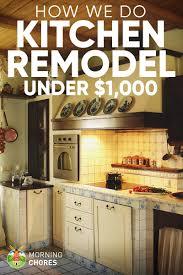 kitchen ideas diy diy kitchen remodel ideas how we do it for under 1 000
