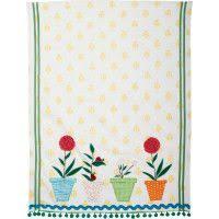 sur la table kitchen towels sur la table singing birds vintage inspired kitchen towel 38962