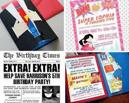 superhero party ideas birthday in a box
