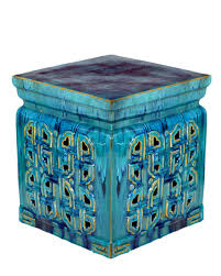 vintage ceramic garden stool