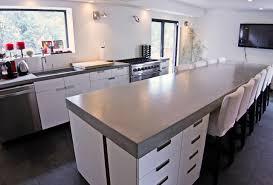 Concrete Kitchen Countertops Refreshing Modern Kitchen Countertops On Kitchen With Concrete