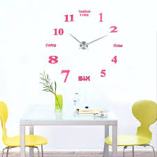 Large Wall Stickers Uk Wall Clocks See Larger Image Diy Sticker Wall Clock Malaysia