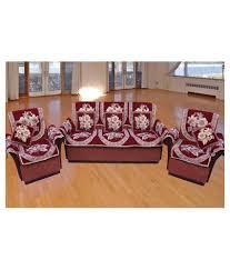 Snapdeal Home Decor Furnishing Kingdom 5 Seater Velvet Set Of 10 Sofa Cover Set Buy