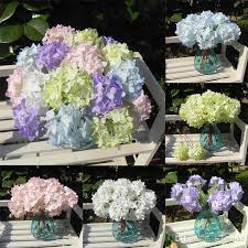 hydrangea wedding 2018 single stem hydrangea white or artificial mini baroque