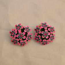pretty earrings 60s pretty posies flower earrings pretty sweet vintage