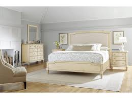 stanley furniture european cottage king upholstered bed with wood