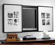 mirror cabinet tv cover the great cover up 7 ways to disguise your tv pottery barn