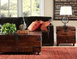 Rustic Trunk Coffee Table Living Room Inspirations Trunk Coffee Table And End Tables