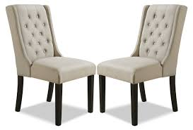 stong wingback dining chair set of 2 u2013 beige furniture ca