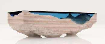 topography coffee table side view of abyss table by duffy london design pinterest