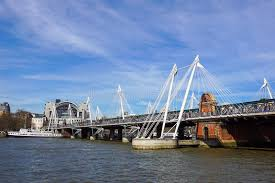 hungerford bridge river thames at hungerford bridge london stock image image of