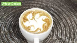 how to make designs on coffee how to make latte art with pictures wikihow