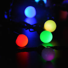 Outdoor Wedding Lights String by 50 Rgb Ball Slow Changing Color String Lights For Valentine U0027s Day